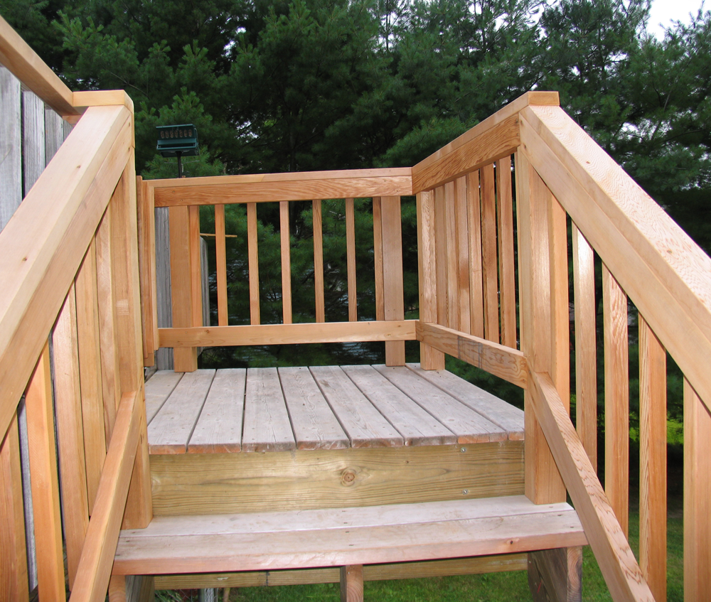 comeau project deck stairs
