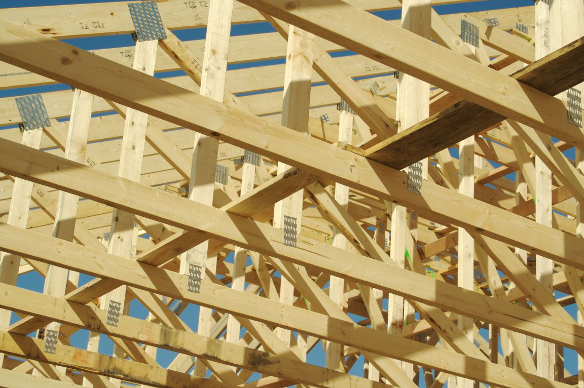 picture of roof trusses project